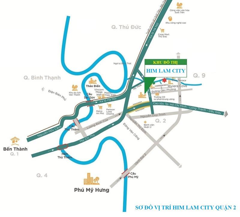 Bản đồ vị trí Sài Gòn Bình An